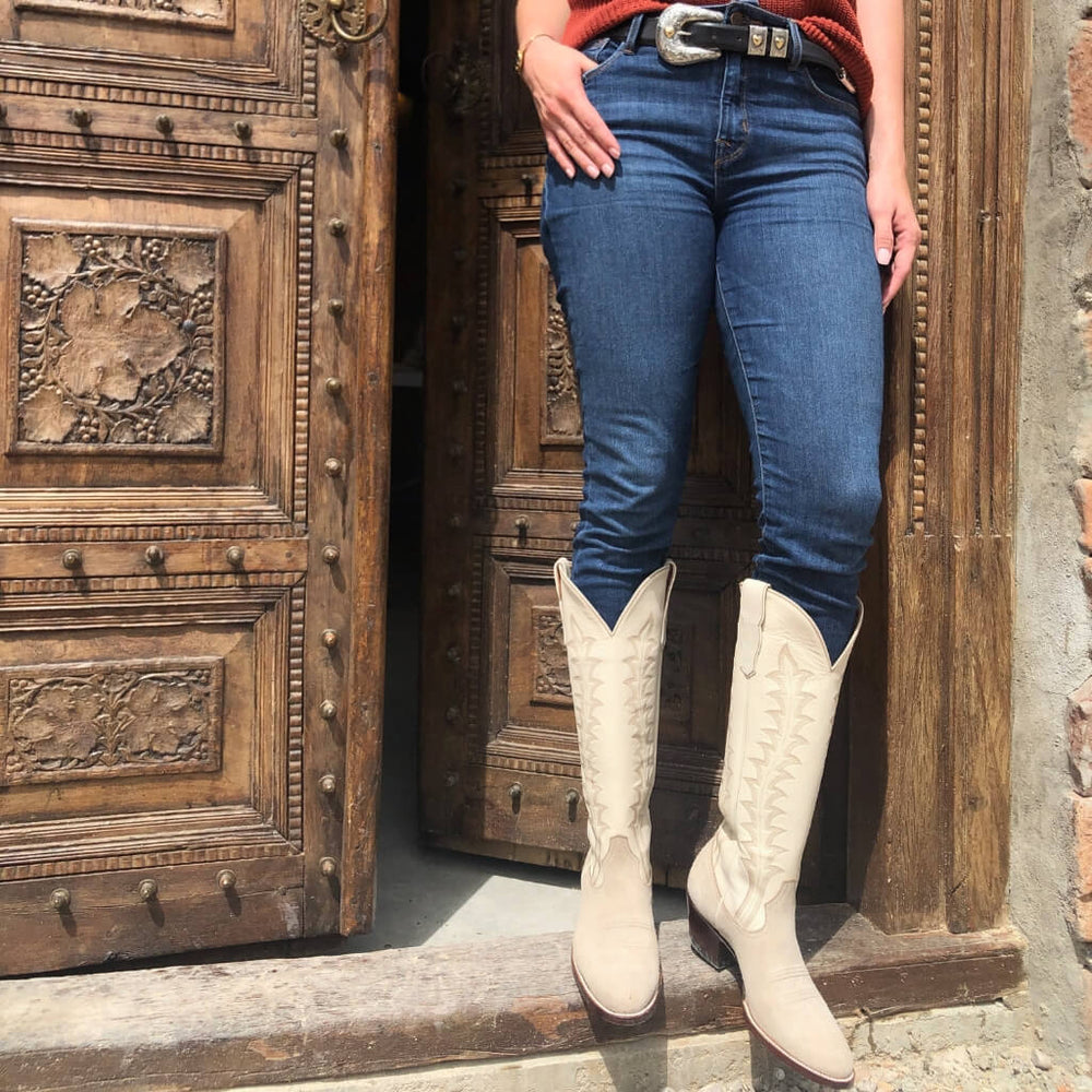 CITY Boots Amarillo Two-tone Beige Cowboy Boots