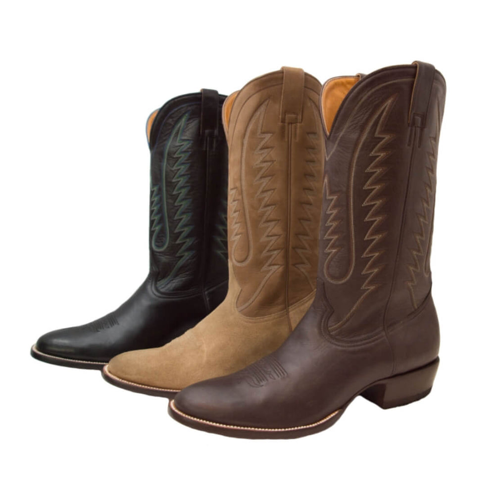 CITY Boots The Taylor Men's Brown Leather Cowboy Boots - CITY Boots