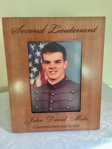 5x7 Second Lieutenant Cherry Frame