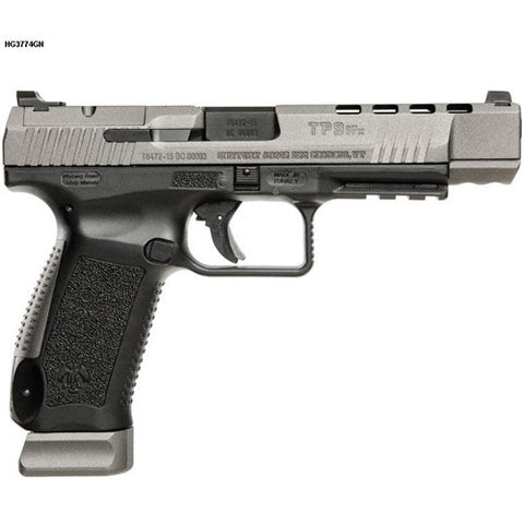 CENTURY ARMS HG3774GN CANIK TP9SFX 9MM PORTED SLIDE TUNGSTEN FINISH