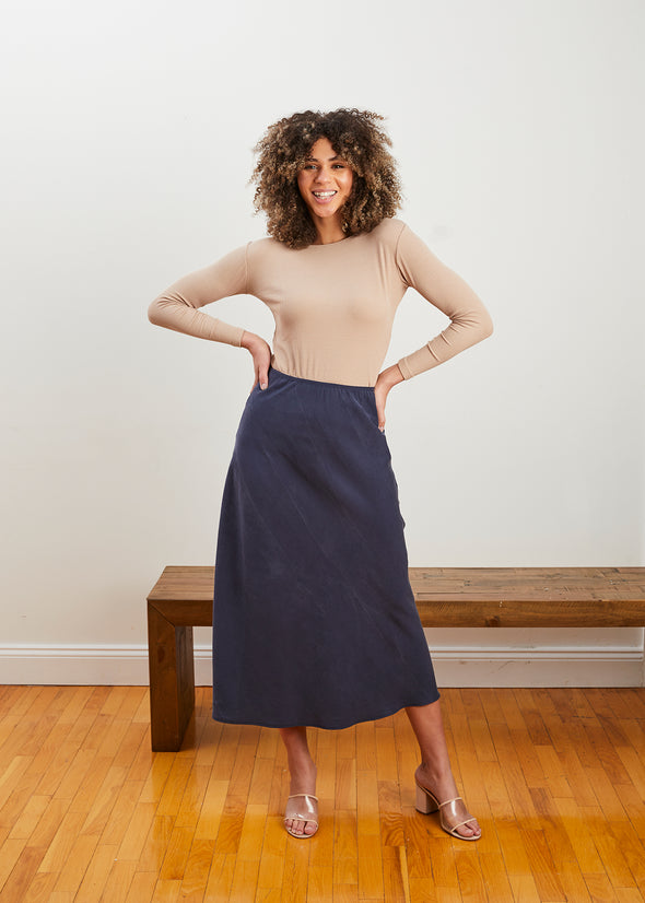 LUXE SKIRT (TWILIGHT BLUE)