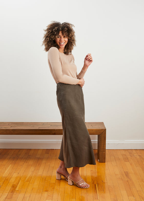 LUXE SKIRT (SAGE)