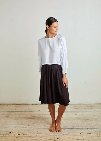 PEEK SKIRT JERSEY (BLACK)