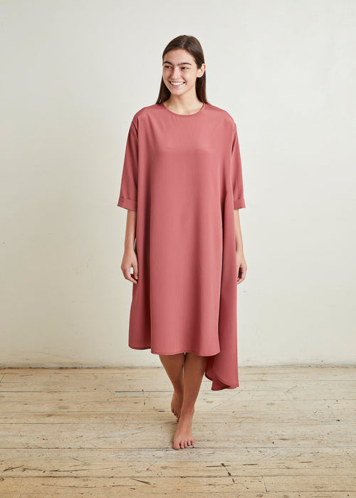 "CASCADE DRESS ""SILKY"" (ROSE)"