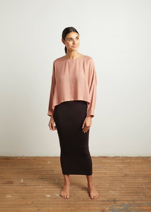 SLOUCH TOP (ROSE)