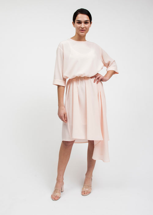 CASCADE DRESS  — SILKY (PETAL)