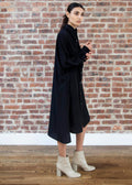 "SHIRT DRESS ""SILKY"" (BLACK)"