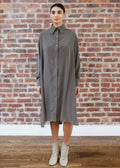 "SHIRT DRESS ""SILKY"" (MOSS)"