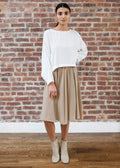 "PEEK SKIRT ""SILKY"" (TAN)"