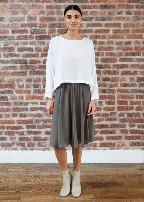 "PEEK SKIRT ""SILKY"" (MOSS)"