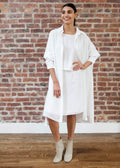 "SHIRT DRESS ""SILKY"" (WHITE)"