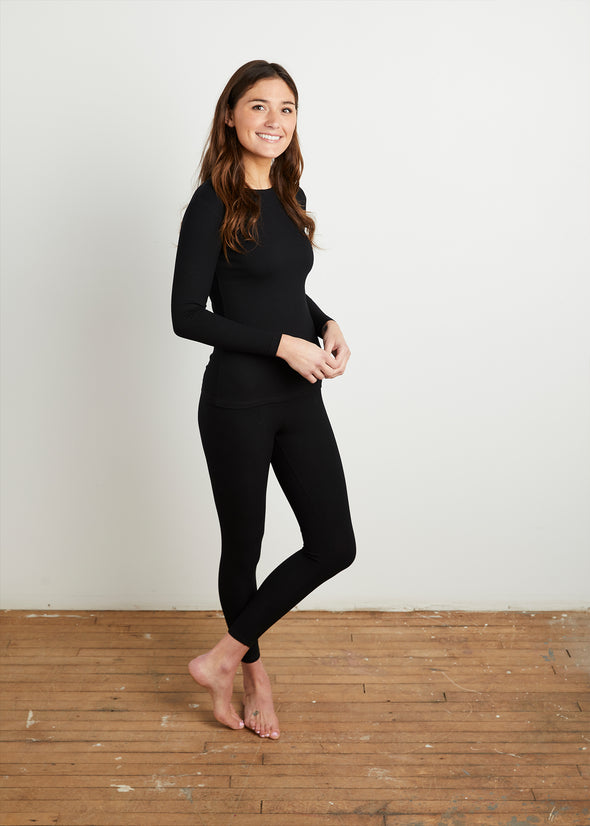 "*RIBBED* ""LOYAL"" LEGGINGS (BLACK)"