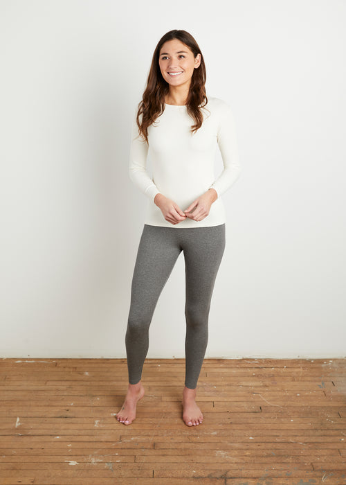 "*RIBBED* ""LOYAL"" LEGGINGS (GRAY)"