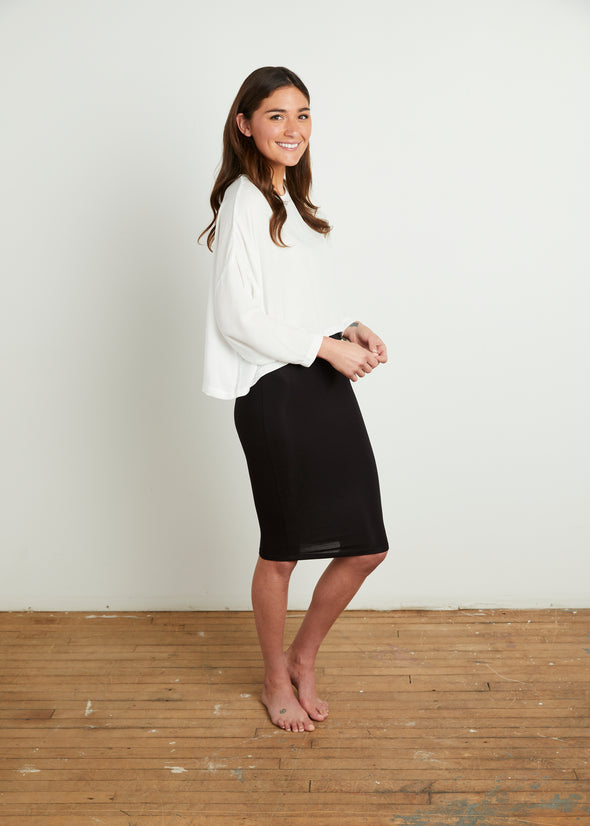 SKIRT LEGGINGS MIDI (BLACK)