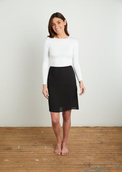 GOOD SLIP SKIRT (BLACK)