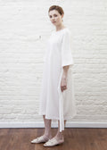 SASH DRESS (WHITE)