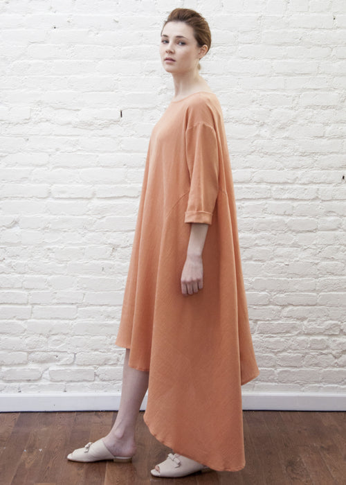 CASCADE DRESS (PEACH)