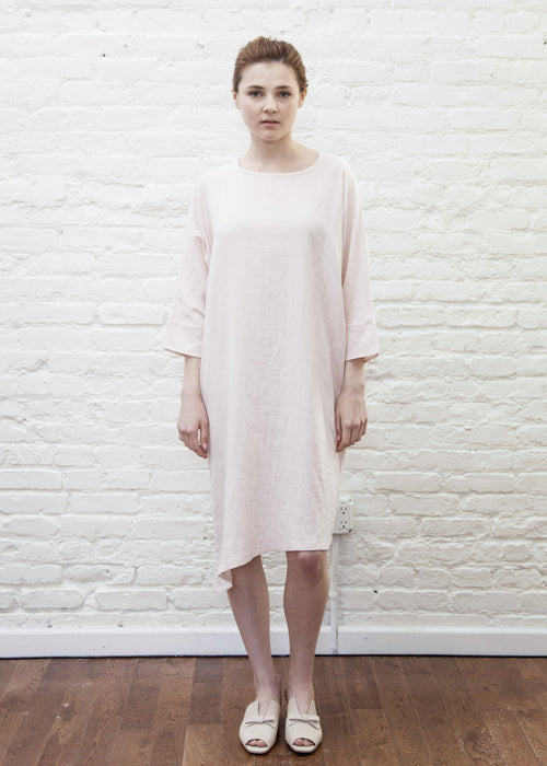 SLANT DRESS (BLUSH)