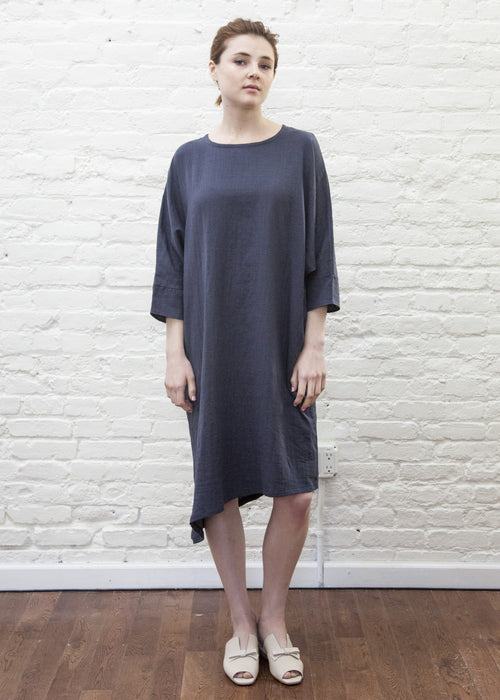 SLANT DRESS (NAVY)