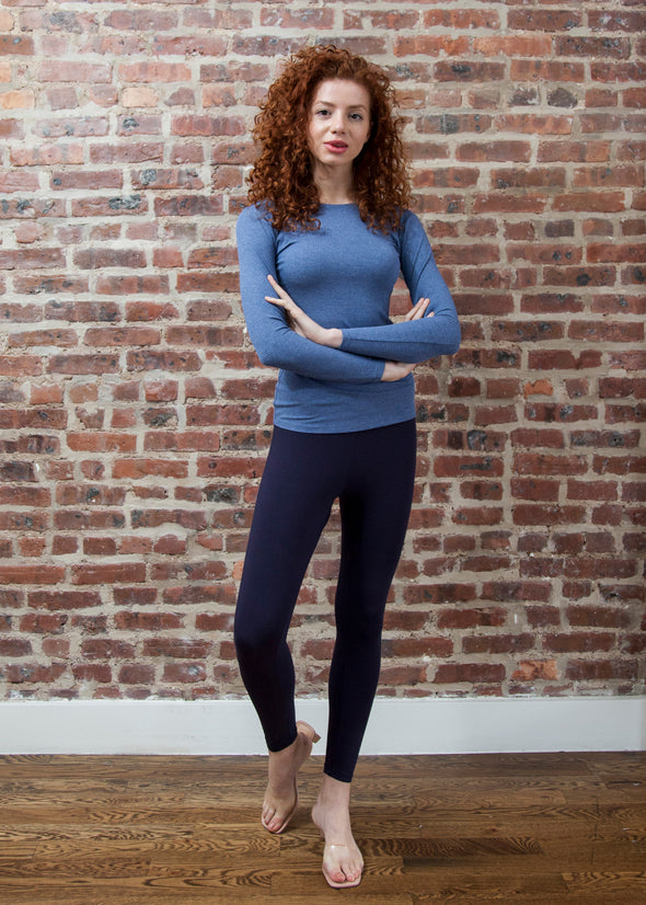 """LOYAL"" LEGGINGS (NAVY)"