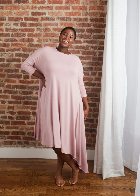 CASCADE DRESS JERSEY (MUTED MAUVE)