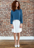 SLOUCH TOP (MOOD BLUE)