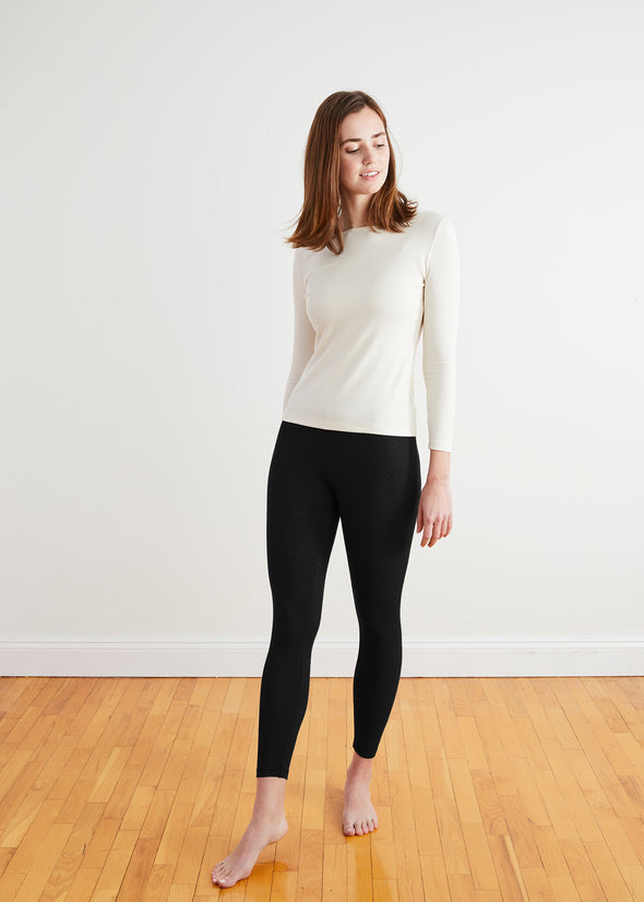 "*PRE-ORDER* FINE RIBBED ""LOYAL"" LEGGINGS (BLACK)"