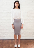 SKIRT LEGGINGS MIDI  (GRAY)