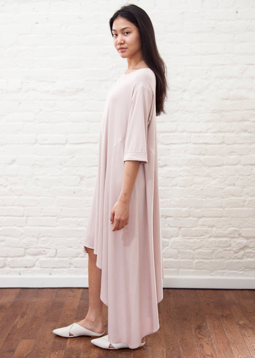 CASCADE DRESS — JERSEY (Powder Pink)
