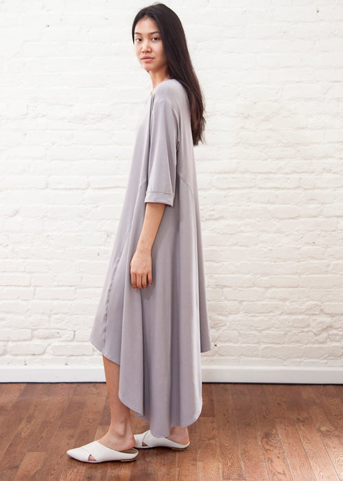 CASCADE DRESS *Jersey* (Ice grey)