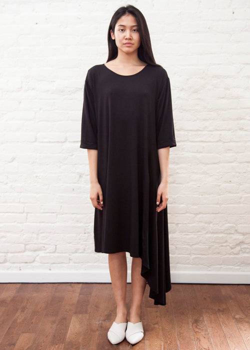 CASCADE DRESS *Jersey* (BLACK)