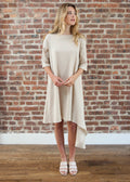 "CASCADE DRESS ""PETITE FIT"" — COTTON (BEIGE)"