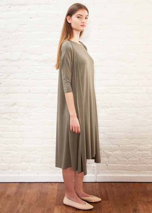 CARDIGAN FROCK (OLIVE)