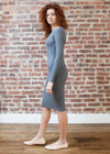 *RIBBED* BODY DRESS (GRAY)