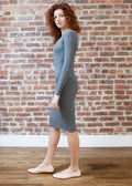 BODY DRESS GRAY (Crew Neck) *RIBBED*