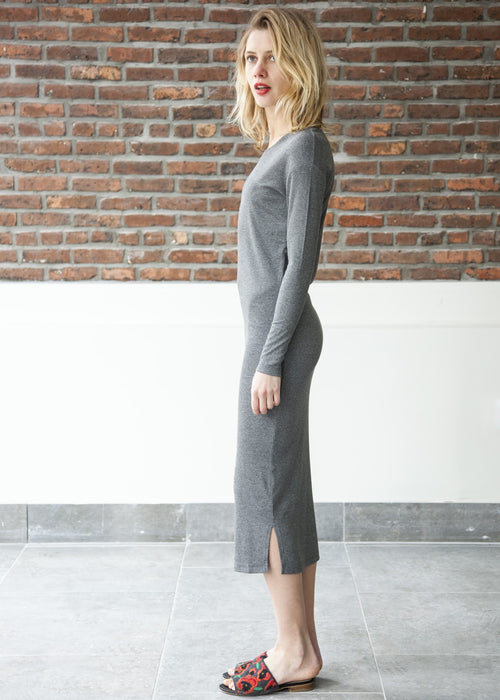 HUG DRESS (Cloud Gray) *FINAL SALE*