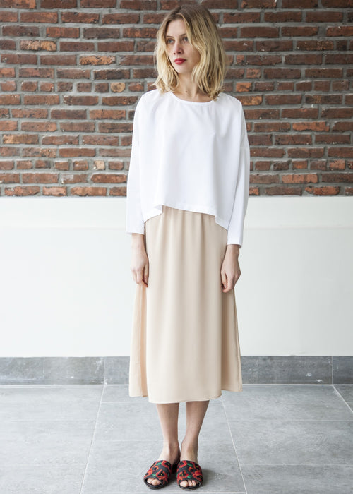 GOOD SLIP SKIRT (Beige)