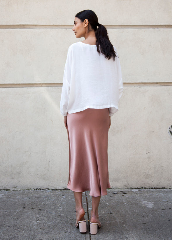 SLIP SKIRT (SUNSET ROSE)