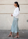 SLIP SKIRT (MINT MIST)