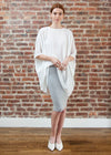 SKIRT LEGGINGS MIDI  (LIGHT GRAY)