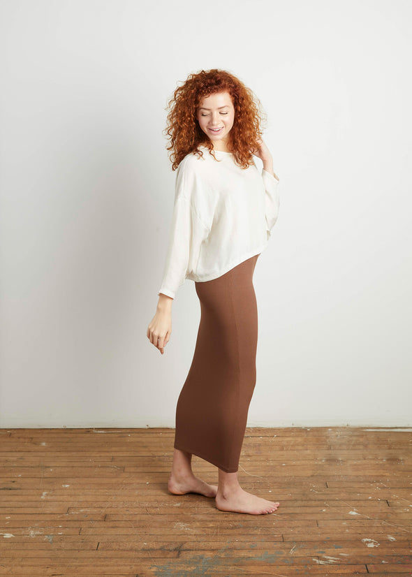 *RIBBED* SKIRT LEGGINGS (COFFEE)