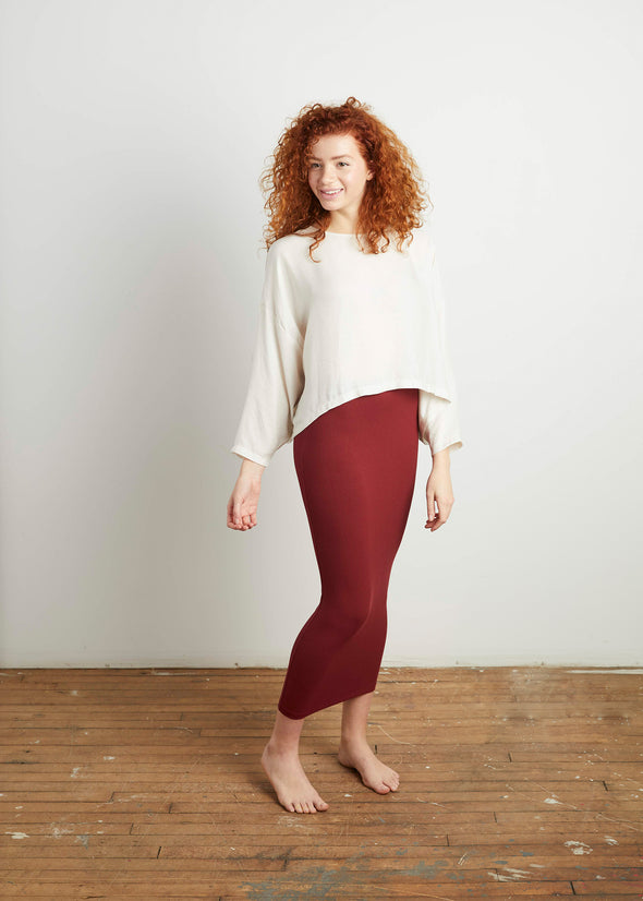 *RIBBED* SKIRT LEGGINGS (SANGRIA)
