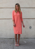 "FROCK ""CLASSIC"" (CORAL) *UPDATED LENGTHS*"