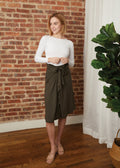 TIE SKIRT JERSEY (OLIVE)