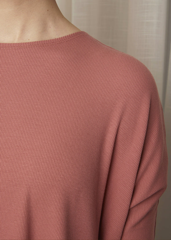 *FINE RIBBED* ALL TOP (ROSE)
