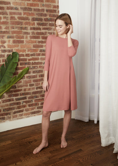 "*FINE RIBBED* FROCK ""CLASSIC"" (ROSE)"