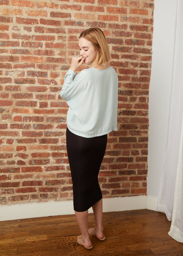 SLOUCH TOP (MUTED MINT)