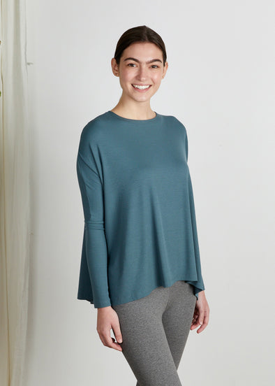 *FINE RIBBED* ALL TOP (TWILIGHT BLUE)