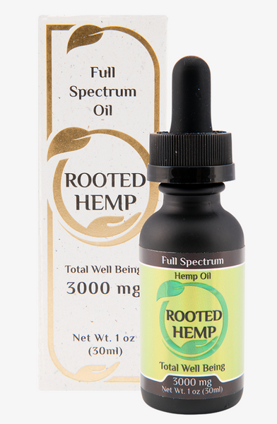 Rooted Hemp Full Spectrum CBD Oil – 3000mg