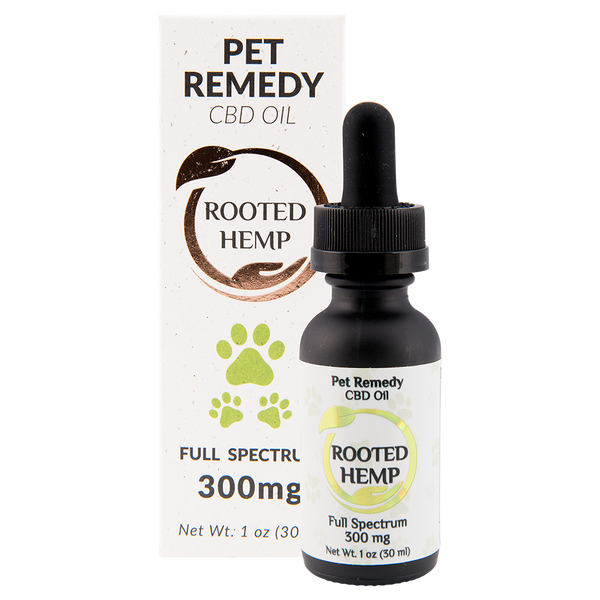 Rooted Hemp Pet Remedy CBD Oil – 300mg